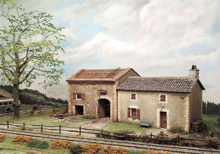 Diorama pechusclat ancienne ferme en dordogne for Porte de ferme ancienne